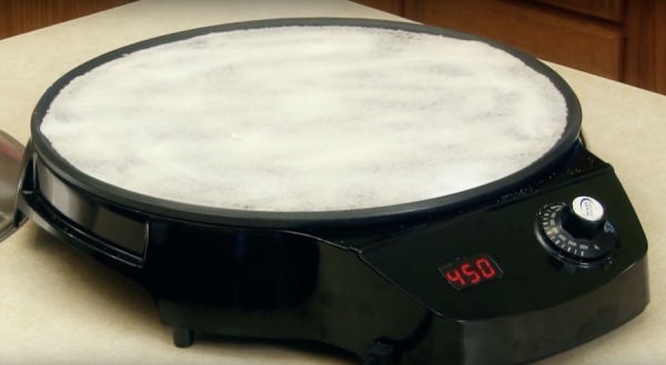 Injera Cooking on WASS Electronics Digital Mitad Grill